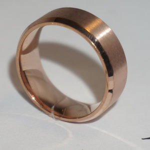 Jewelry - 8mm Stainless Ring Man Women Band Rose Gold 11